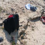 Rugzak op het strand ...
