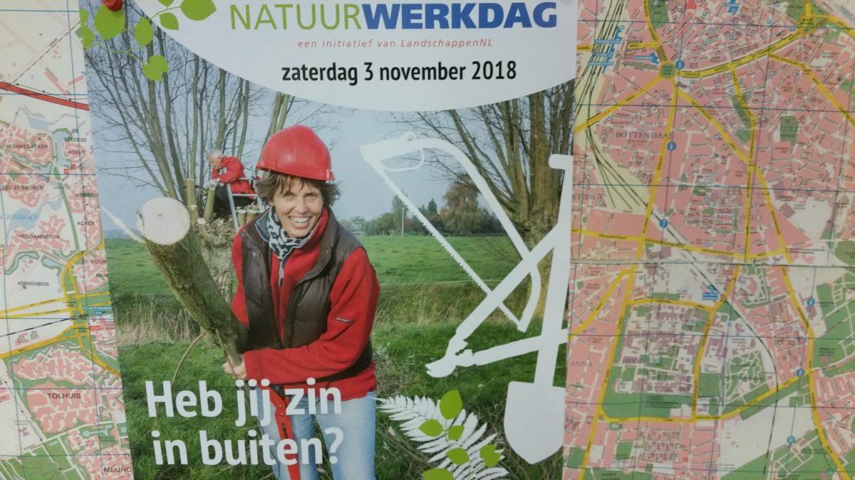 Doe mee met de Natuurwerkdag 2018 bij het V.L.B. in Beuningen