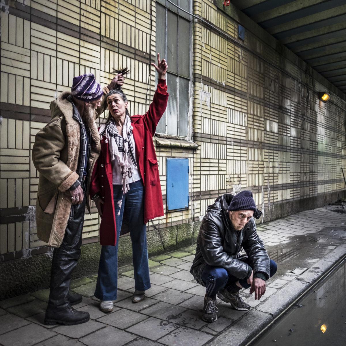 Arnhemse hulpverleners in de zorg betreden vanaf komende week het toneel, in de theater Utrecht productie 'Thuislozen'